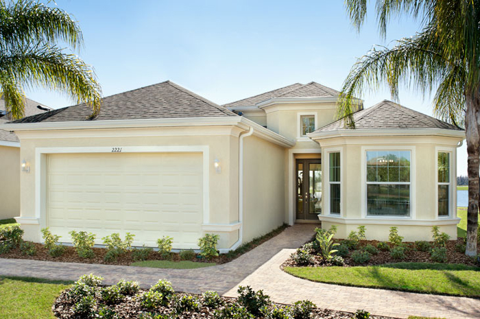 Single family homes ranging from 2 to 3 bedrooms with paver drive and walkways (Laguna Shown)