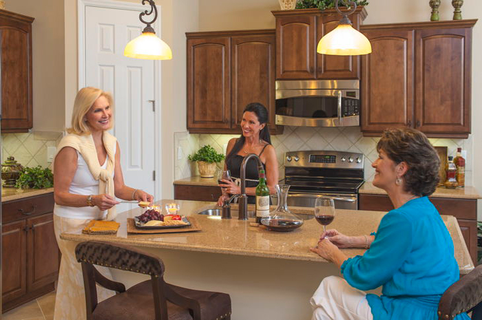 Large kitchens perfect for gathering friends or family