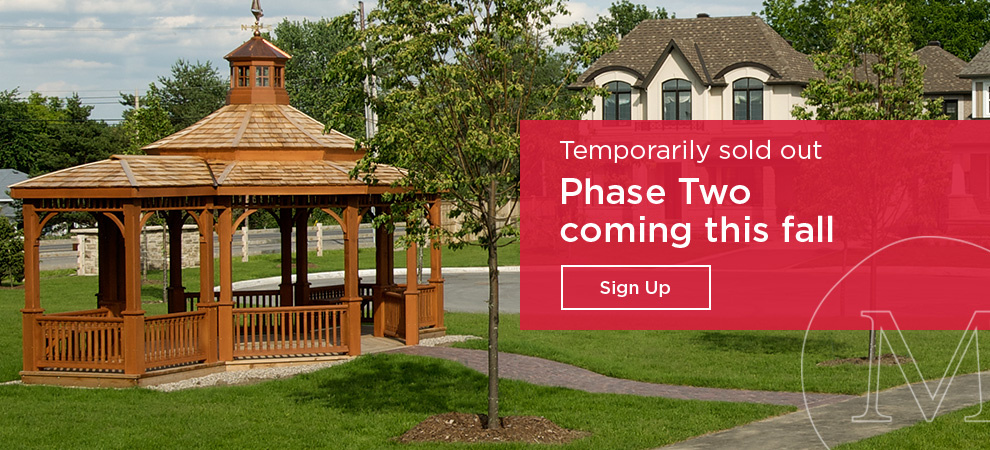New Singles and Bungalow Townhomes in Manotick, This Fall!