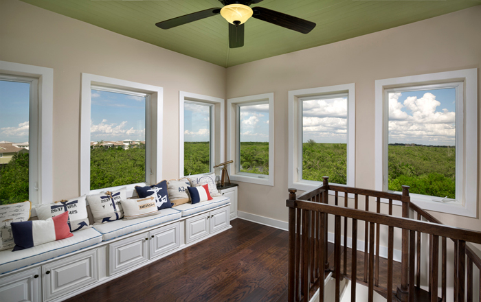 Take in the view from your Island Coach Home with 2 or 3 bedrooms (Harbour Grand Retreat Shown)