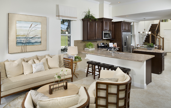 Open floorplan with 3 or 4 bedrooms (Bari Shown)