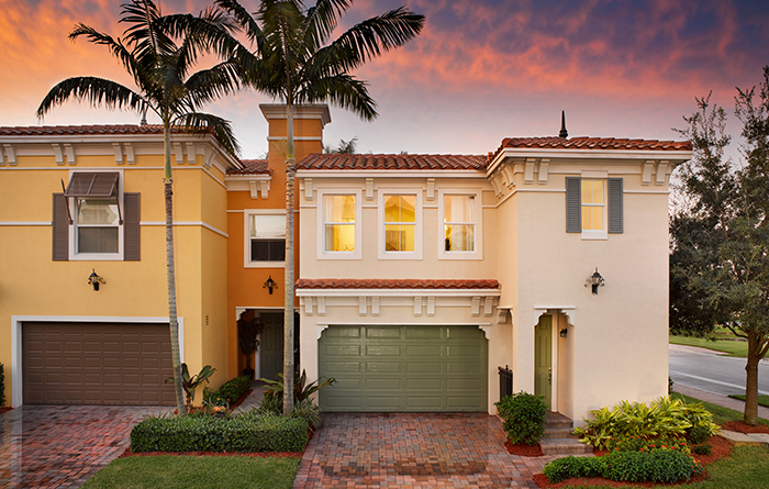 Luxury townhomes with 2 car garage (Bari Shown)