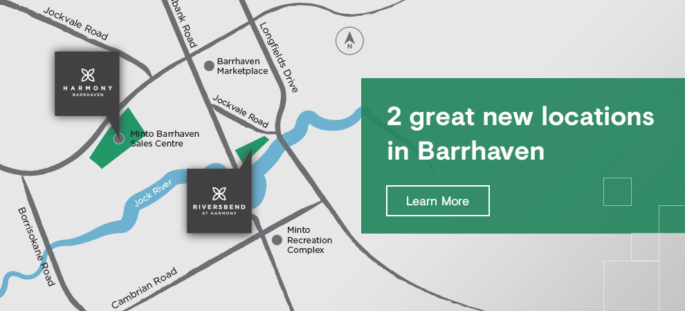 2 great locations to live in Barrhaven. New homes coming soon.