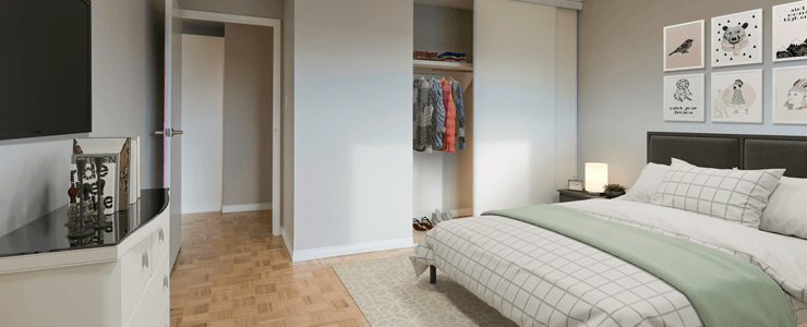 Edmonton York House Rentals Bedroom