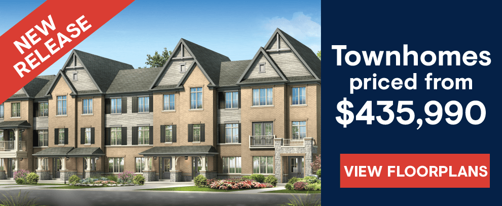 New townhomes for sale in Whitby