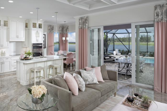 Persimmon Model Open Concept Great Room and Kitchen