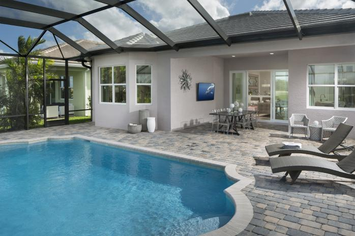 Persimmon Model Covered Patio and Pool