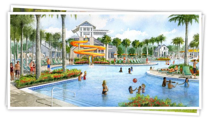 Take a dip in Westlake's spectacular lagoon swimming pool