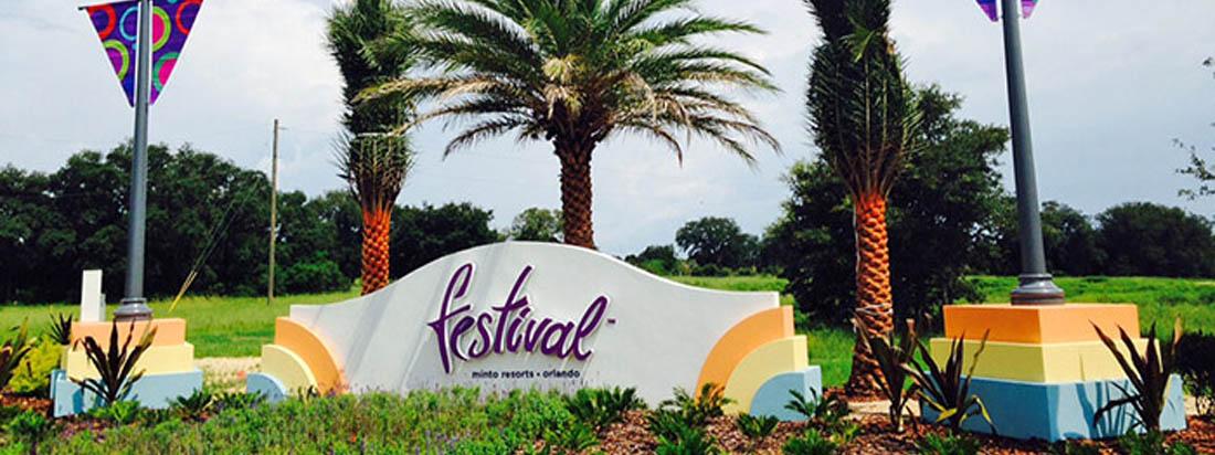 Festival entrance on Orlando