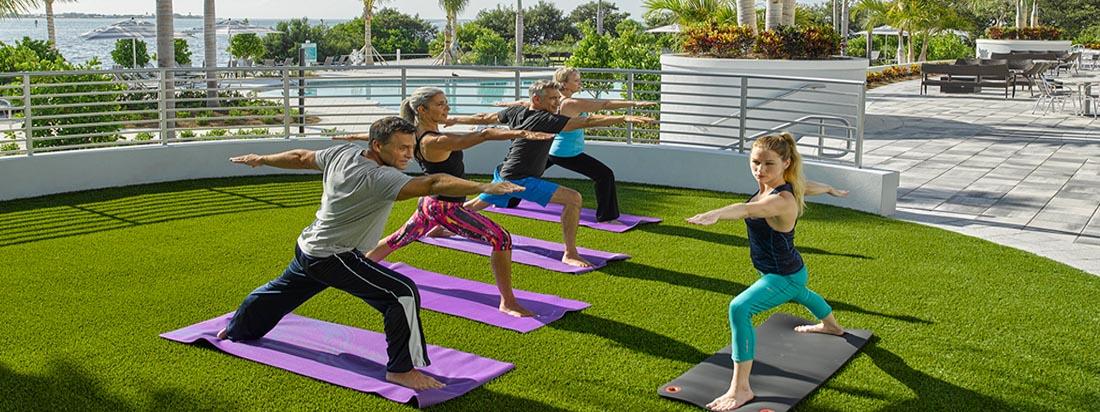 Harbour Isle yoga class